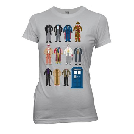 Doctor Who Doctor Outfits Juniors Grey T-Shirt   L for $<!---->