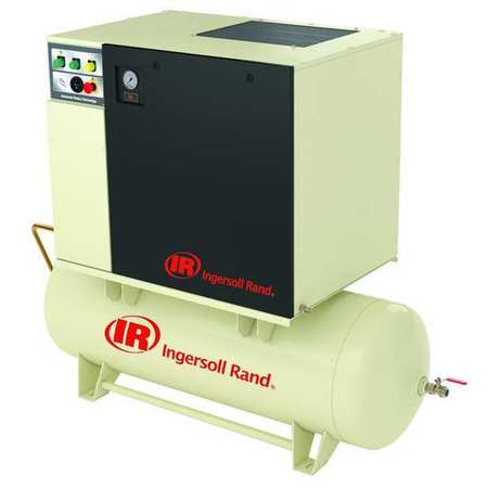 Rotary Screw Air Compressor,5 HP,3 Ph INGERSOLL RAND UP6-5-125/80-230-3