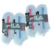 12 Pairs Women's White No Show Socks Size 9-11 Shock Dry #2067FL