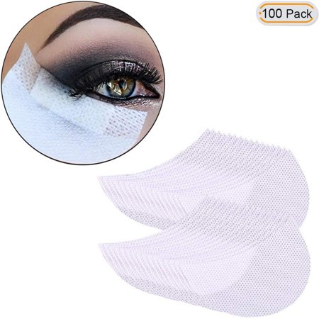 WALFRONT 100 Pcs Eye Shadow Shields Under Eye Patches Pads Makeup Shields Eyelash Guard Protector Cosmetic Application White 5*8.5cm - Halloween Eye Patch Makeup