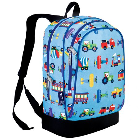 Wildkin Olive Kids Trains, Planes & Trucks Sidekick Backpack