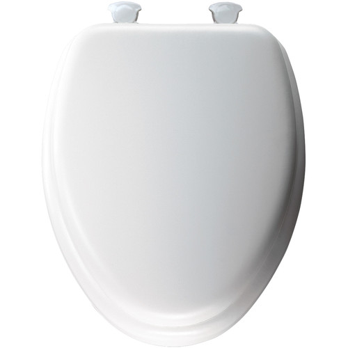 Mayfair 113EC Lift-Off Cushioned Vinyl Elongated Toilet Seat, White by Mayfair