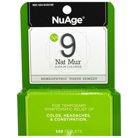 Hylands NuAge Tissue Salts Natrum Mur 6X 125 Tablet, Pack of 2