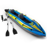 Goplus 11.5ft Goplus 2-Person Inflatable Canoe Boat Kayak W/ Pump Paddle Water Sport