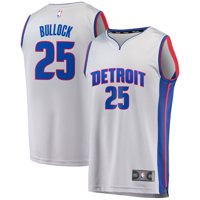 bb48b27c8 Product Image Reggie Bullock Detroit Pistons Fanatics Branded Fast Break  Replica Jersey Gray - Statement Edition