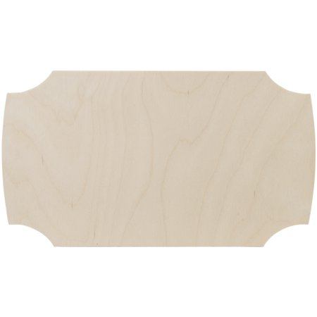 MPI Unfinished Wood Baltic Birch Plaque, Contemporary, 6.5