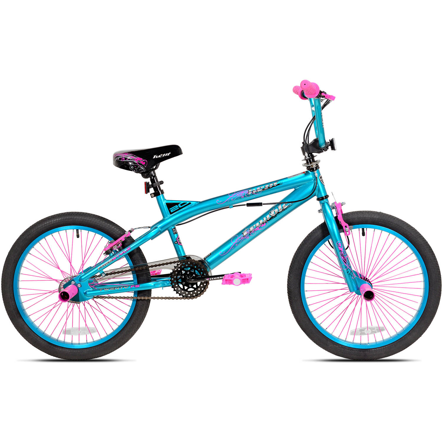 "20"" Kent Trouble Girls' Bike, Aqua/Pink"