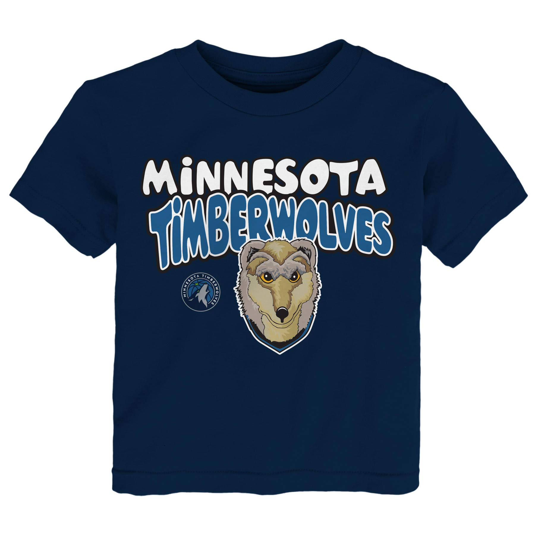 Minnesota Timberwolves Preschool & Toddler Bubble Letter T-Shirt - Navy