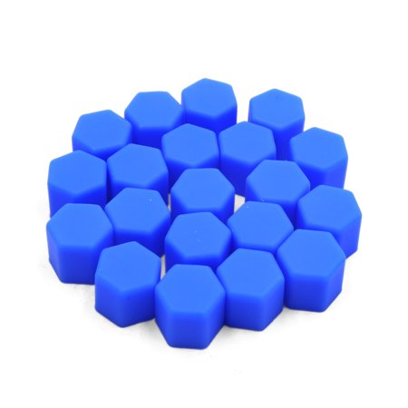 20pcs 17mm Blue Silicone Car Tyre Wheel Hub Screw Cap Dust Cover Protector - image 2 of 2