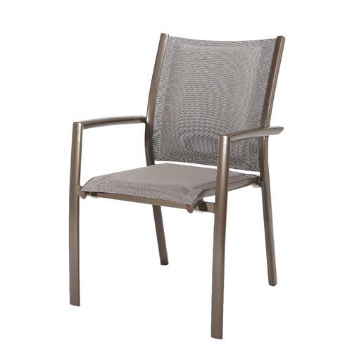 Latitude Run Giada Stacking Patio Dining Chair (Set of 2)
