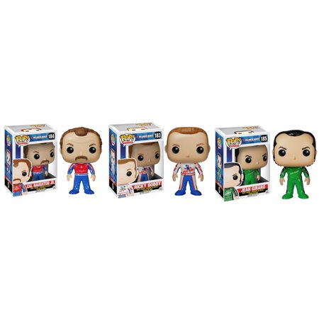 [ Ricky Bobby - Cal Naughton Jr. - Jean Girard ] Will Ferrell Movie Talladega Nights (Collector Set of 3) Funko POP Vinyl Nascar Action Figure Racecar Driver Toy Merchandise Collectible Memorabilia