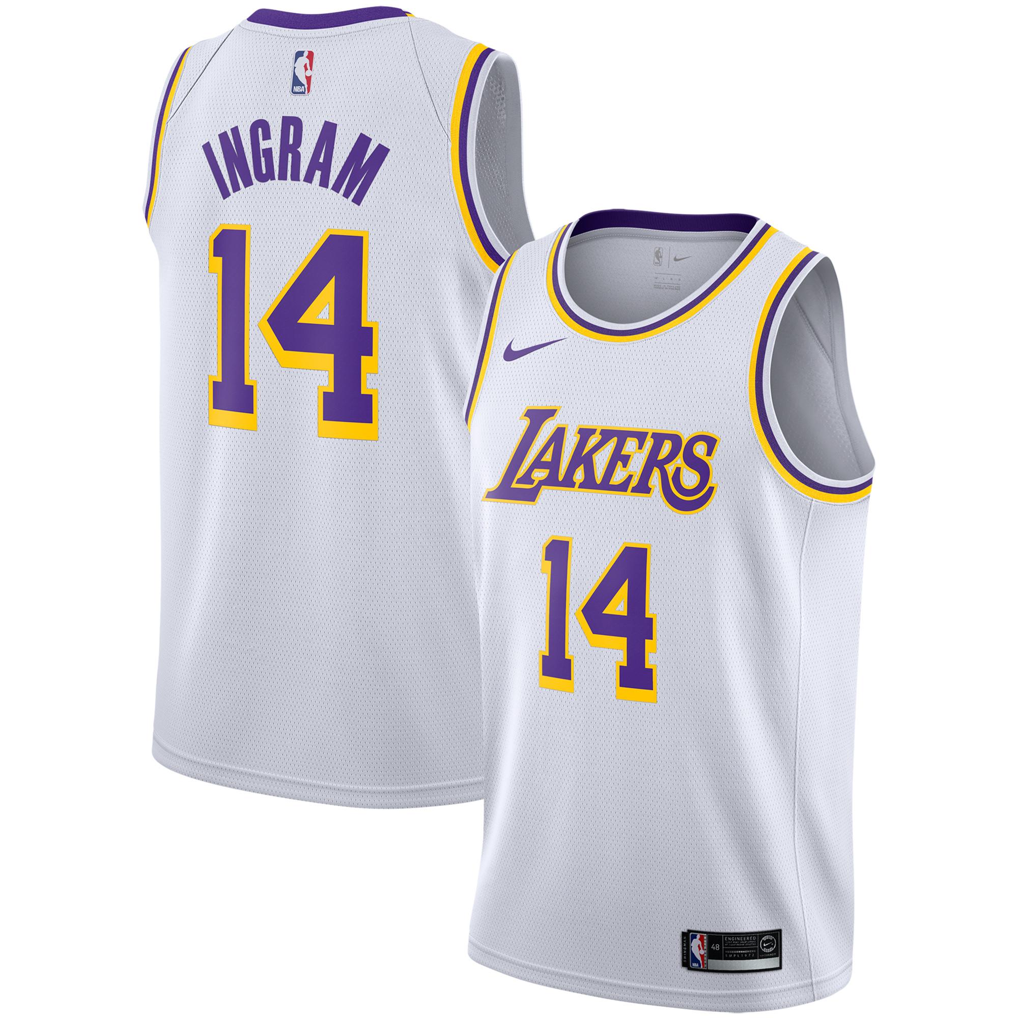 Brandon Ingram Los Angeles Lakers Nike Replica Swingman Jersey - Association Edition - White