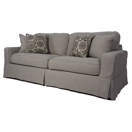 4-Pc Contemporary Sofa Slip Cover Set with Welt Pattern in Light ...