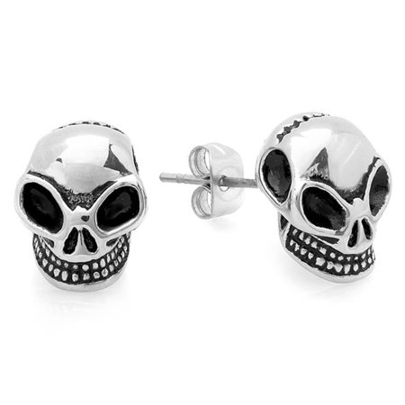 Stainless Steel Alien Stud Earrings