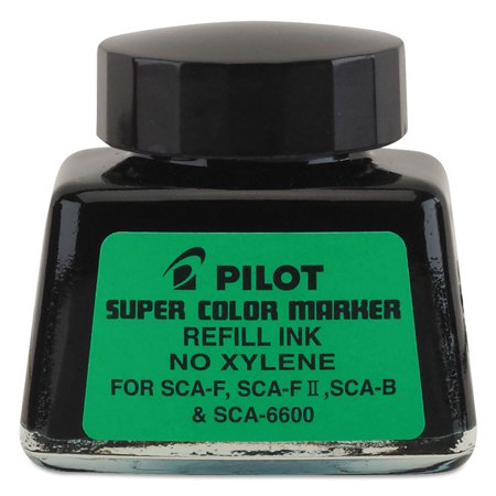Jumbo Marker Refill Ink, For Permanent Markers, 1 oz Ink Bottle, (Black Ink Bottle)