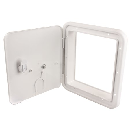 Electric Cable Hatch - JR Products 22D32-A Large Electric Cable Hatch with Thumb Lock