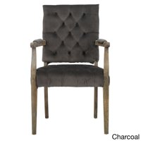 """Christopher Knight Home Saltillo Velvet Arm Dining Chair by  - 40""""h x 23.5""""w x 22.2""""d Charcoal"""