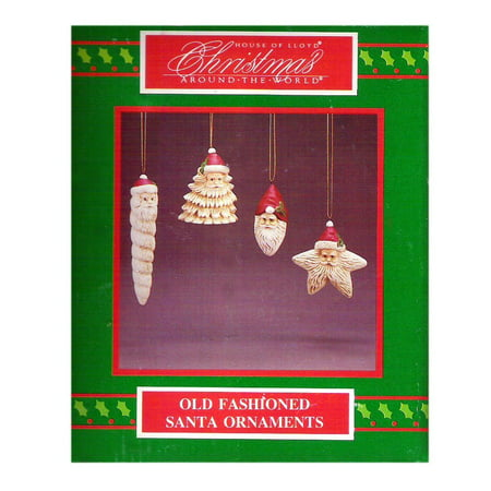 Christmas Around The World Old Fashioned Santa Ornaments Set of 4 No. - Old Fashioned Christmas Ornaments