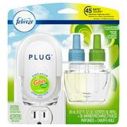 Febreze Plug Odor-Eliminating Air Freshener Oil Starter Kit, Gain