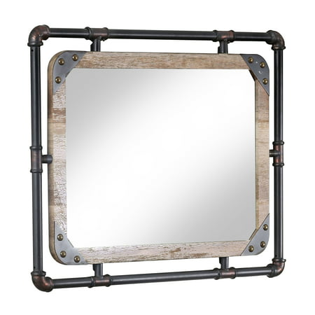 Furniture of America Stockholm Industrial Decorative Wall Mirror 32