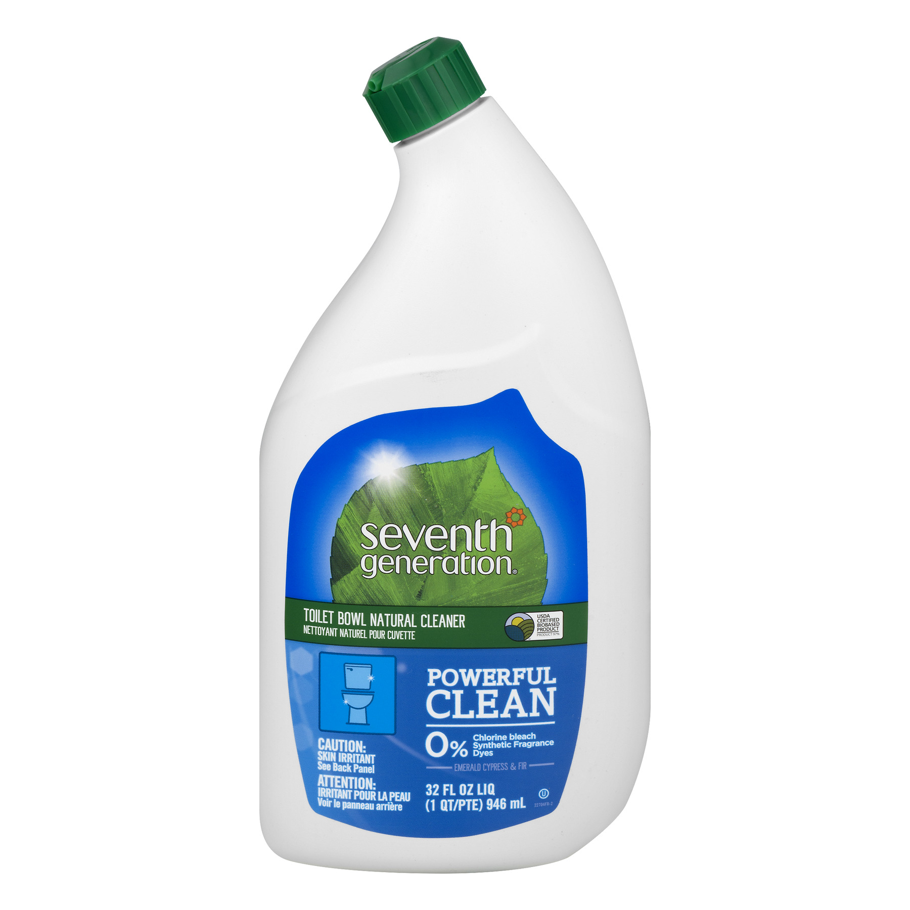 Seventh Generation Natural Toilet Bowl Cleaner, Emerald Cypress & Fir Scent, 32 oz Bottle