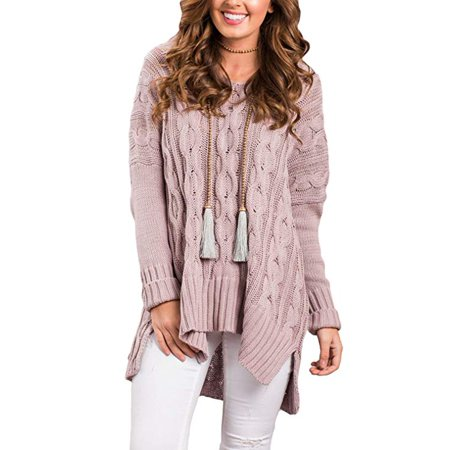 9059fdbe77 Vista - Women Casual V Neck Loose Fit Knit Sweater Pullover Top -  Walmart.com