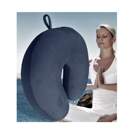 Bookishbunny Ultralight Micro Beads U Shaped Neck Pillow Travel Head Cervical Support Cushion Navy