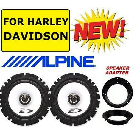 FITS 1996-2013 HARLEY TOURING ALPINE SPEAKER PACKAGE & ADAPTER INSTALLATION KIT Best Alpine Touring Bindings