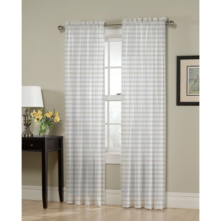 Better Homes & Gardens Muted Plaid Single Curtain Panel