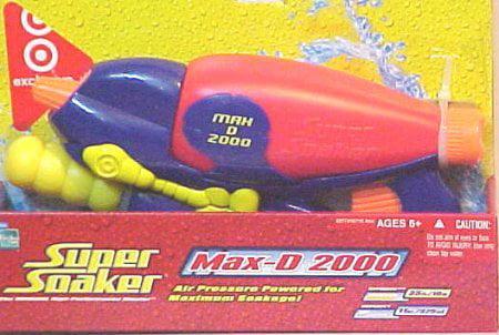 Super Soaker Max-D 2000 Blaster Water Gun by