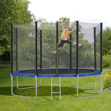 12FT Trampoline Combo Bounce Jump Safety Enclosure Net W/Spring Pad Ladder - image 9 of 10