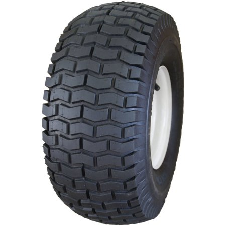 10 Turf Saver Tire (HI-RUN Mower Tire/Wheel Assembly 16x6.50-8 2PR SU12 Turf Saver on 8x5.375 Wheel with Bushings 3/4