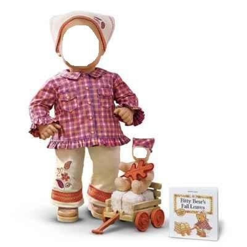 """""""""""""""Harvest Plaid Set"""""""" for 15"""""""" Bitty Baby doll"""""""