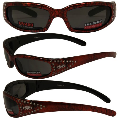 Global Vision Marilyn 3 Glasses (Orange Frame/Smoke Lens)