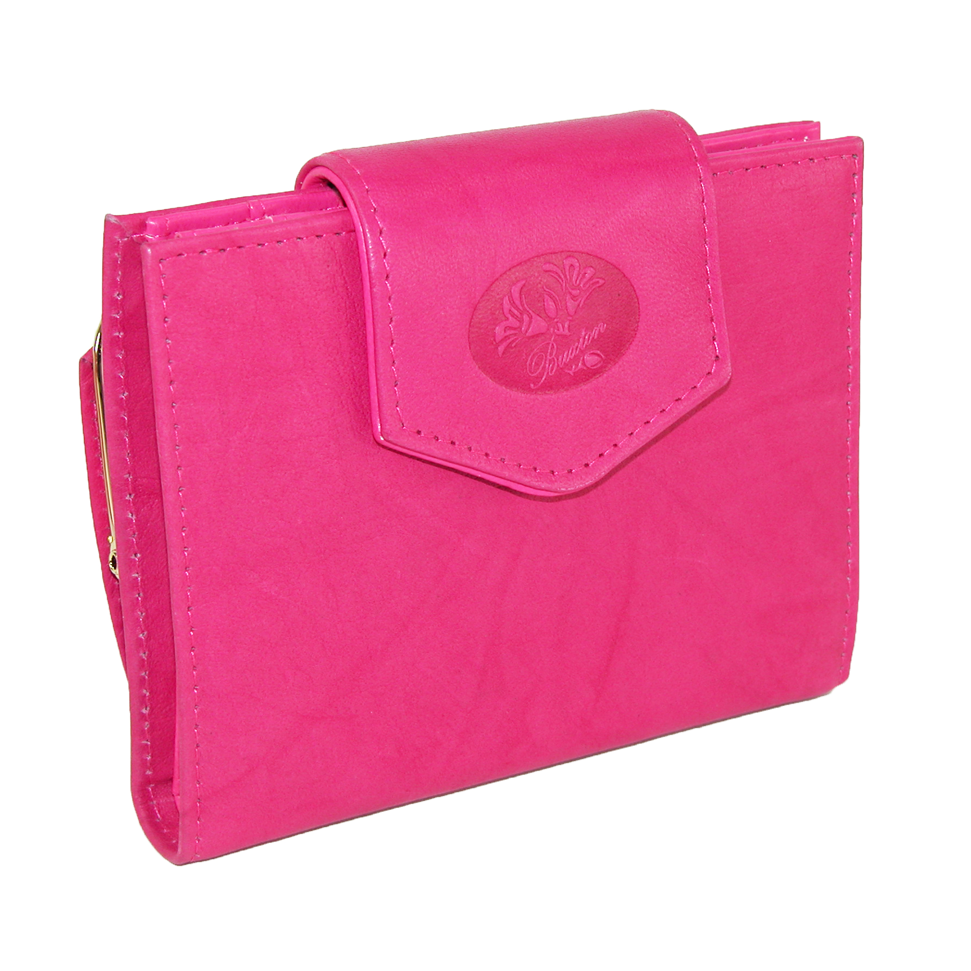 Buxton Pink Women Leather Heiress Collection Single Cardex Card Small Wallet