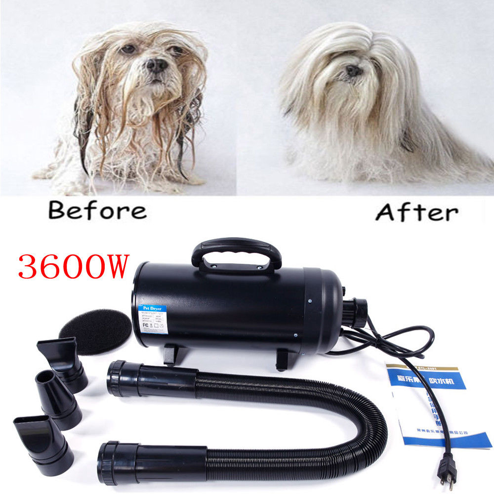 Ktaxon 3600W Portable Dog Cat Pet Groomming Blow Hair Dryer Quick Draw Hairdryer