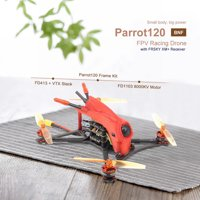 HGLRC Toothpick Parrot120 Pro 120mm FPV Racing Drone with Camera 1200TV 2-4S F4 Flight Controller 13A 4in1 ESC with FRSKY XM+ Receiver BNF Version