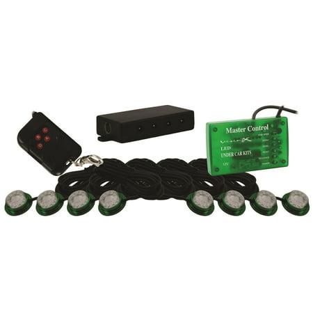 Vision X Lighting 4005396 Universal Billet Led Pod  Green  10 In  X 18 In  X 2 In   12V Dc  Rock Or Dome Lights  Stock Code Hil Stg