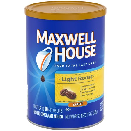 ((3 Pack) Maxwell House Light Roast Ground Coffee, 11.5 oz Canister)