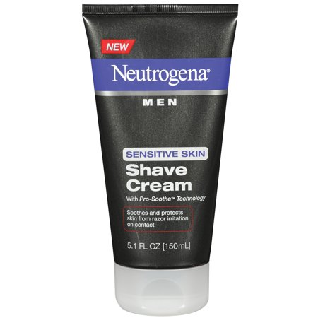 (3 Pack) Neutrogena Men's Shaving Cream for Sensitive Skin, 5.1 fl. oz