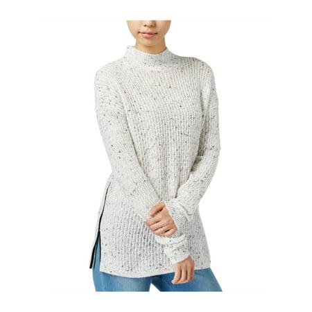bar III Womens Faux-Leather Trim Knit Sweater