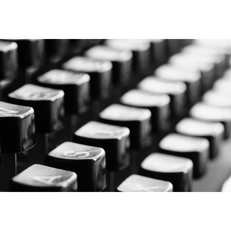 - LAMINATED POSTER Mechanically Typewriter Office Keys Letters Poster Print 24 x 36