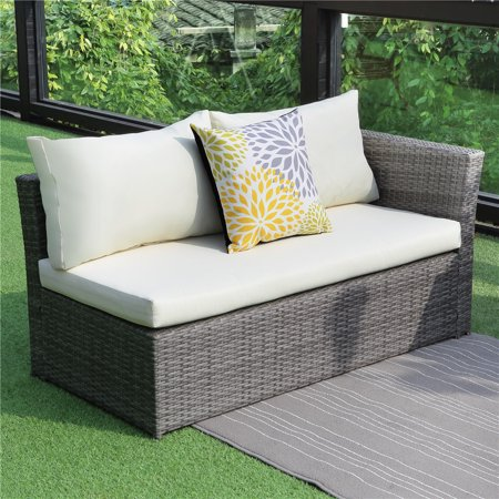 4PCS Patio Sectional Sofa Set Wisteria Lane Outdoor Sofa ... on Outdoor Loveseat Sets id=43105