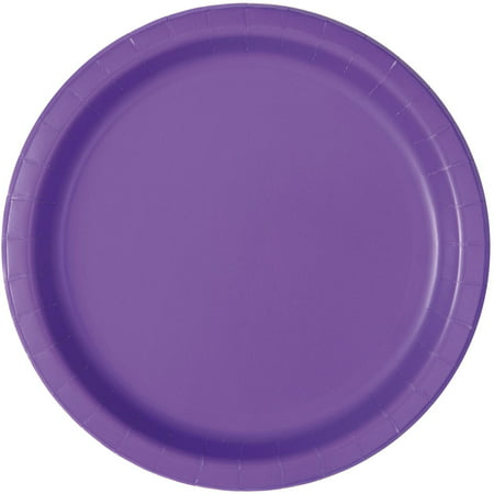 Neon Purple Paper Dessert Plates, 7in, 20ct (Oval Paper Plates)