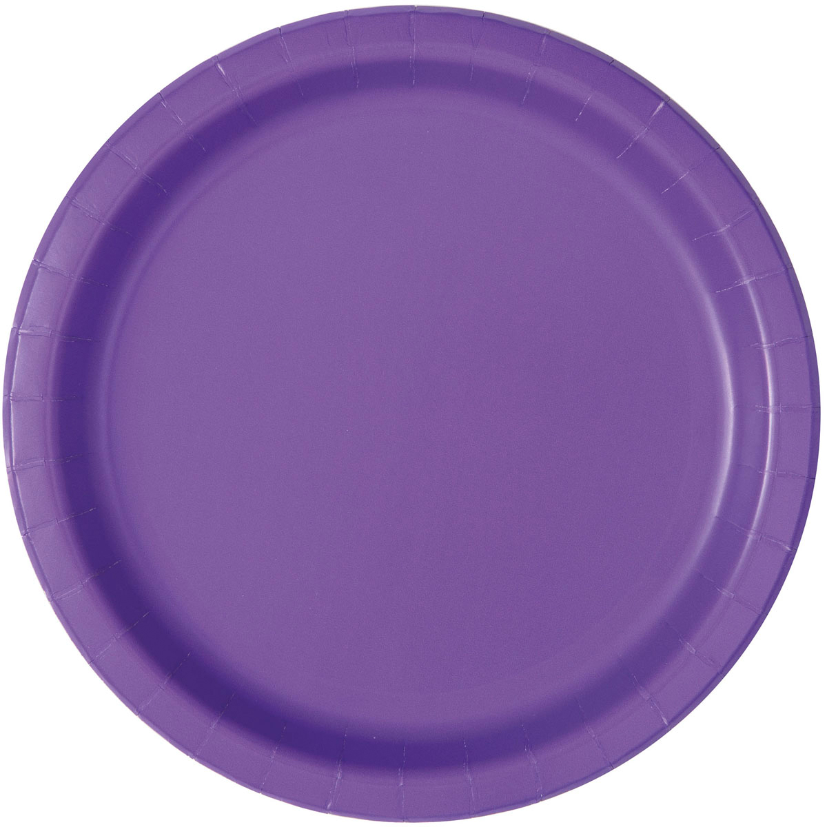 Neon Purple Paper Dessert Plates, 7in, 20ct