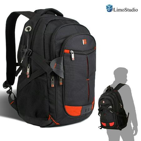 Back School Backpacks (Laptop Backpack 17 Black Bag Shoulder Bag Outdoor School Travel Business, WMLS4402 )