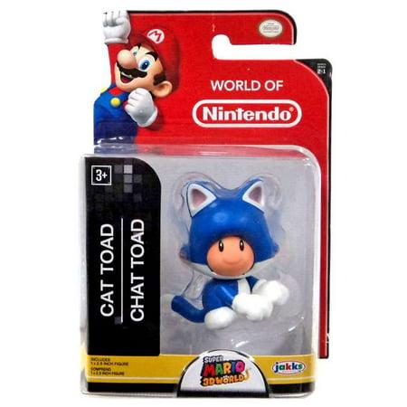 Super Mario 3D Worlds Cat Toad Mini Figure (Super Mario 3d World Cat Figure)