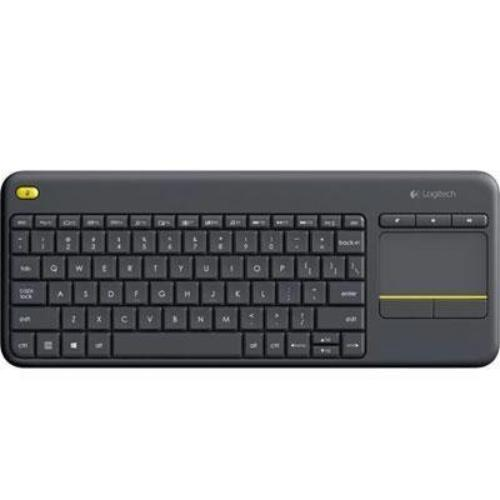 Logitech Wireless Touch Keyboard K400 Plus - Wireless Connectivity - Usb Interfacetouchpad - Compatible With Smart Tv, Computer - Mute, Volume Up, Volume Down Hot Key[s] - Qwerty Keys (920-007119)