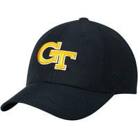Georgia Tech Yellow Jackets Top of the World Primary Logo Staple Adjustable Hat - Navy - OSFA