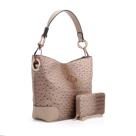 MKF Collection Wandy Soft Vegan Leather Hobo and Wallet Set by Mia K - Hobo Bags And Wallets